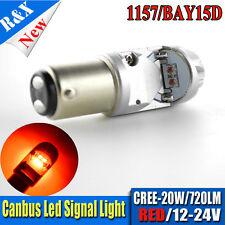 1X 1157 BAY15D S25 AMBER CREE CANBUS CREE LED TURN BRAKE TAILLIGHT BULB 12V-24V