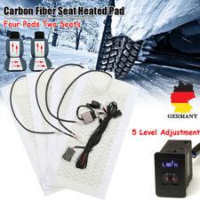 4xHeizmatten Universal Sitzheizung Heizkissen Nachrüstsatz Carbon Auto 5 Stufen