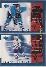 (2) 1998-99 UD FROZEN IN TIME INSERT LOT: OWEN NOLAN/MIKE JOHNSON #FT17/FT18