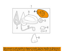 GM OEM Outside Mirrors-Front Door-Mirror Glass Left 23394637