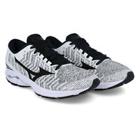 Mizuno Mens Wave Rider Waveknit 3 Running Shoes Trainers Sneakers - Black White