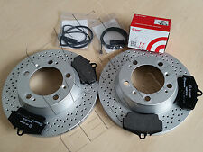 FOR PORSCHE BOXSTER S CAYMAN 2.9 3.2 3.4 R REAR DRILLED BRAKE DISCS PADS WIRE