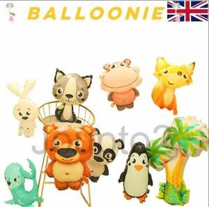 Jungle Animal Safari Foil Balloons Party Decorations UK Birthday Madagascar Bear