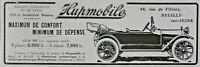 PUBLICITÉ DE PRESSE 1914 LES VOITURES HUPMOBILE MAXIMUM DE CONFORT MINI DÉPENSE