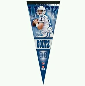 """ANDREW LUCK INDIANAPOLIS COLTS PREMIUM QUALITY PENNANT 12""""X30"""" BANNER"""