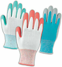 GROUPE BBH Gardening Work Gloves One Size Ladies Adult Latex 10 pairs NEW OB