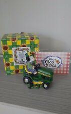 John Deere Mary Moos Figurine Deere To My Heart Lawn Tractor and Pig 485160