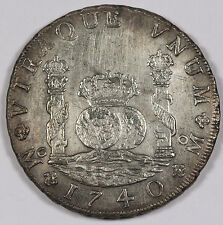 MEXICO 1740 Mo 8 REALES Pillar Dollar Silver Coin XF+ KM#103 REYGERSDAHL SALVAGE