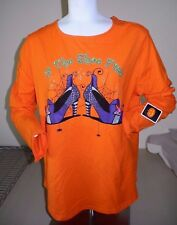 IF THE SHOE FITS Witch Shoes HALLOWEEN GRAPHIC TEE Woman's Size SMALL NEW W/TAG!