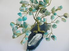 Gemstone Tree Sculpture Made in Brazil by GUENA
