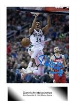 More details for giannis antetokounmpo 1 a4 reproduction signed poster choice of frame