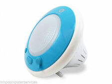 Conceptronic Wireless Waterproof Speaker Light Blue for iPod, MP3, Smartphone