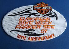 RARE HARLEY DAVIDSON 10th Anniversary European Bike Week 2007 Patch Faaker See