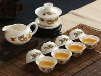 Blanc Jade Porcelaine Céramique KungFu Service à Thé Tasse Théière Sauser Outil