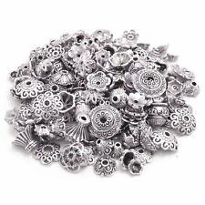 160-210pcs Bali Style Jewelry Making Metal Bead Caps Deluxe New Mix, 100 Silver