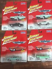 4 Johnny Lightning Thunderbird Ford Hardtop Convertible Fast Ship