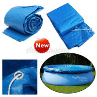 8/10/12/15Ft  SWIMMING POOL COVER Round Family Paddling Fast Set Garden Pools