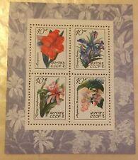 1971, Russia, USSR, 3929, Souvenir Sheet, MNH, Flowers