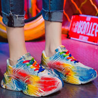 Damenschuhe Sportschuh Turnschuhe Laufschuhe Plateauschuhe Bunt Sneaker Freizeit