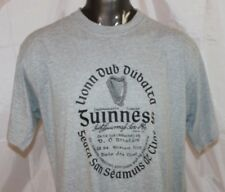 Guinness Light Gaelic Label T-Shirt Gray Black Graphic Men's size Extra Large XL