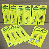 Thomas Fishing Lures - Lot of 12 Lures - for Trout Salmon Walleye Bass - Spinner