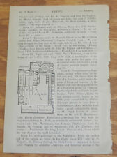 1909 Antique Layout Map of ACADEMY ART CENTER, VENICE, ITALY