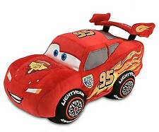 Disney Store Pixar Cars 2 Lightning McQueen 13'' Plush - NEW -