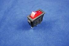 5pcs Red Light Illuminated Rectangle 2 Position Boat Rocker Switch 3 Pin 120v