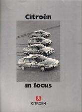 Citroen 1992-93 UK Market Sales Brochure AX ZX BX XM C15 C25