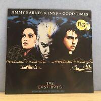 "JIMMY BARNES & INXS Good Times 1990 UK 12"" Vinyl single EXCELLENT CONDITION"