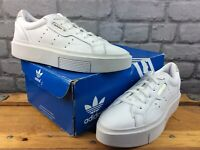 ADIDAS LADIES UK 6 EU 39 1/3 SLEEK SUPER SLEEK LEATHER TRAINERS WHITE RRP £70 M