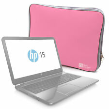 "Stylish Pink Neoprene Protective Laptop Case / Sleeve for HP 15.6"" Pentium"