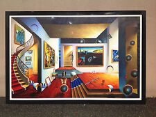 "FERJO "" THE MAZE "" ORIGINAL OIL PAINTING ON CANVAS    82"" x 51"""