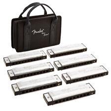 Fender Blues Deluxe Harmonica Pack - 7 Key Set w/ Case - C, G, A, D, F, E, Bb
