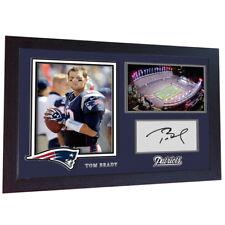 Tom Brady New England Patriots Nfl signed autograph American Football Framed Mdf