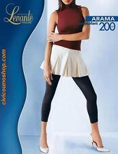 Pantacollant Collant Calza microfibra Donna Levante Arama T.4 Nero Black 200 den