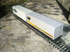 TRIANG HORNBY R719 2 x 30ft CONTAINER LINER WAGON FORD/SAINSBURYS BEEF VERY RARE
