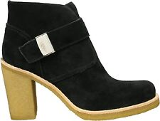 UGG® AUSTRALIA 'BRIENNE' BLACK SUEDE HEELED ANKLE BOOTS UK 5 EUR 37.5 RRP £140