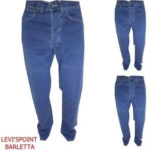 jeans versace uomo estivo vita alta diritto regolare gamba comoda W28 29 31 32