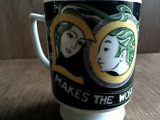 Vintage Mann Made Mugs Exclusive Love Makes the World Go Round Mug Coffee RARE