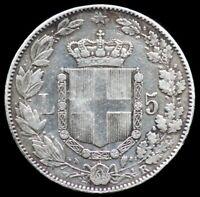 5 LIRE 1879 ITALIE / ITALIA [ argent / silver ]