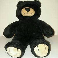 Build-A-Bear Plush Bear Black Tan 16 inches BABW