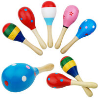 Wooden Ball Sand Hammer Rattle Musical Instrument Children Music Toy-AU