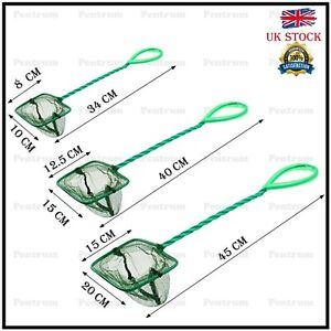 Aquarium Fish Net Easy Catch Net Tropical Cold water Marine Tank Cleaning 3 size