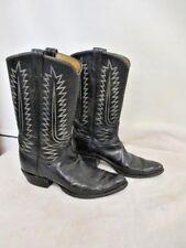 LADIES TONY LAMA WESTERN COWBOY BOOT BLACK SZ 9M #166083