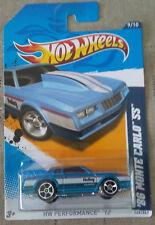 '86 Monte Carlo SS #149 * Blue * 2012 Hot Wheels * NE10