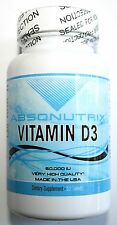 Vitamin D3 Potent 50000 UI 1000mg *Weekly Dosage Per Tablet! Absonutrix
