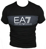 New Emporio Armani Mens T-Shirt Round Neck in Black Colour Size S