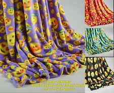 Expressions Emoji Colar Fleece Throw / Blanket 125 x 175 CM in Four Colours Gift