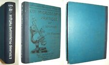 MICROSCOPIE PRATIQUE 1947 DEFLANDRE APPLICATION FAUNE FLORE MICROFOSSILE GEOLOG